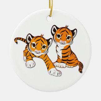 Gemelos de Cub de tigre Adorno De Reyes