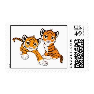 Gemelos de Cub de tigre Franqueo