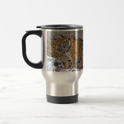 Gemelos de Cub de tigre Tazas De Café