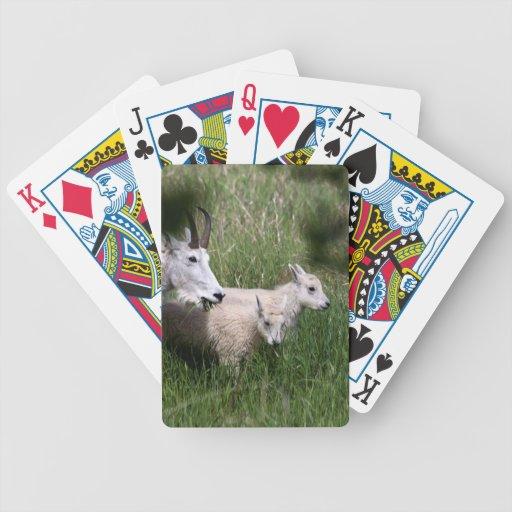 Gemelos de la cabra de montaña cartas de juego