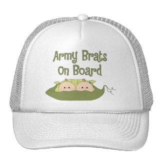 Gemelos de los palos de golf del ejército a bordo  gorras de camionero