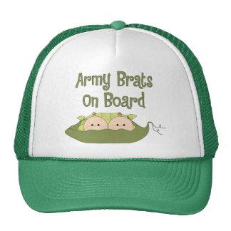 Gemelos de los palos de golf del ejército a bordo  gorros bordados