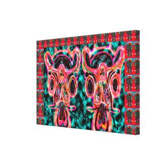 Gemelos de SARKARI: Altos TOROS enérgicos Impresión En Lona Estirada