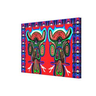 Gemelos de TAPORI - altos TOROS enérgicos de Don Impresion De Lienzo