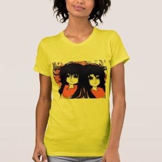 Gemelos del animado camiseta