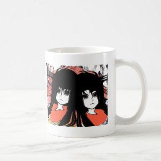 Gemelos del animado taza de café
