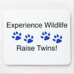 Gemelos del aumento de la fauna de la experiencia tapete de ratón