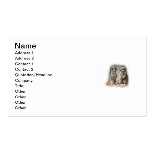 gemelos del bebé del meerkat tarjeta de visita