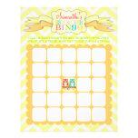 Gemelos del búho - bingo de la fiesta de bienvenid tarjetas informativas