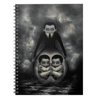 Gemelos del cuaderno de encargo malvado