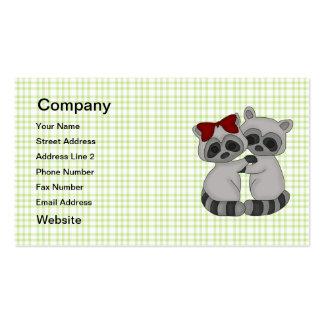 Gemelos del mapache tarjeta de negocio