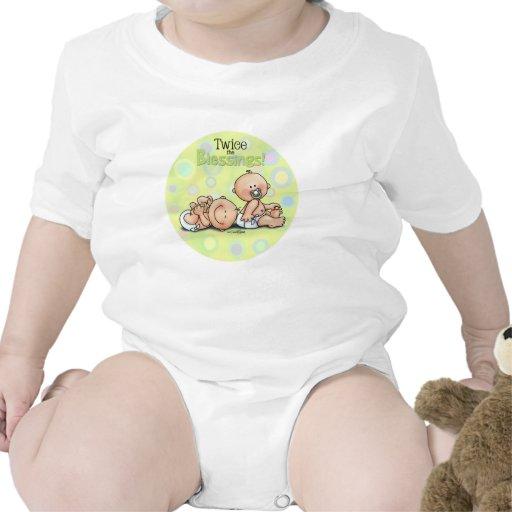 Gemelos - dos veces las bendiciones traje de bebé