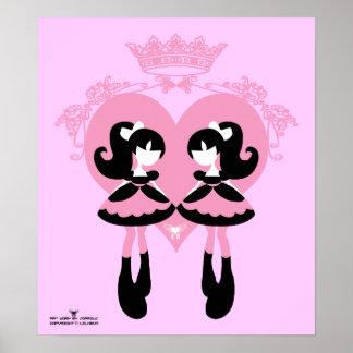 Gemelos dulces del lolita poster