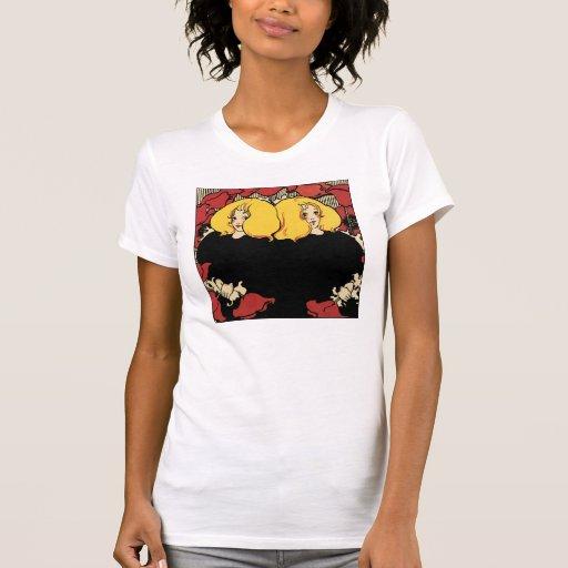 Gemelos - ejemplo de Nouveau del arte por la caña  Camiseta