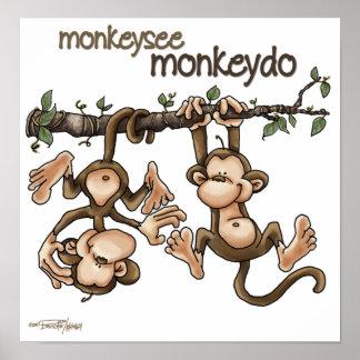 GEMELOS - el mono ve el mono hacer Póster
