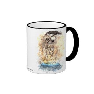 Gemelos - espacio en blanco taza de café
