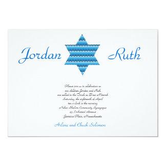 """Gemelos judíos de David de la estrella de la Invitación 5"""" X 7"""""""