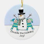 GEMELOS: ¡La alegría doble del día de fiesta! Ornamento Para Arbol De Navidad