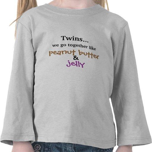 Gemelos - mantequilla y jalea de cacahuete camiseta