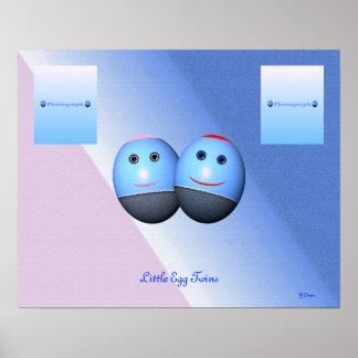 Gemelos muchacho y chica (véase los detalles) posters