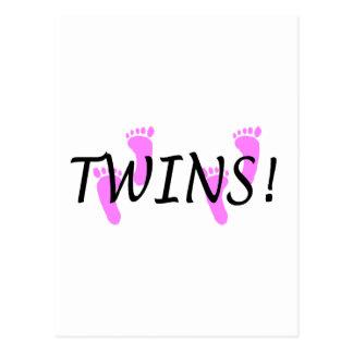 Gemelos (pies rosados) postales