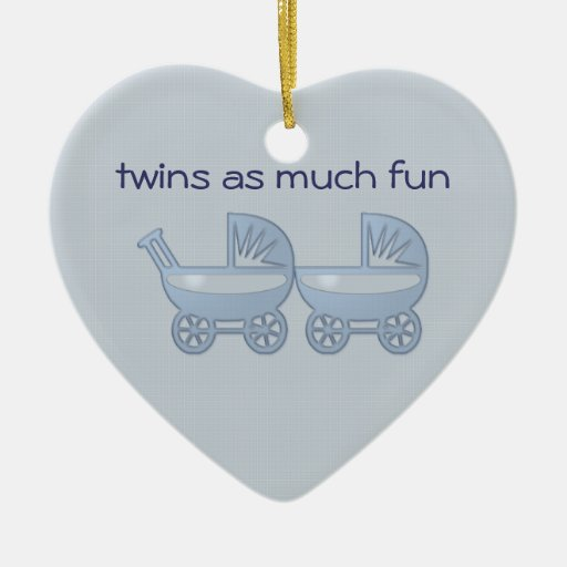gemelos tanta diversión adorno navideño de cerámica en forma de corazón