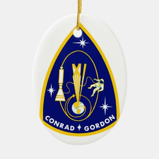 Gemini 11 Conrad and Gordon Ceramic Ornament