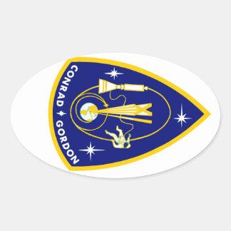 Gemini 11 Conrad and Gordon Oval Stickers