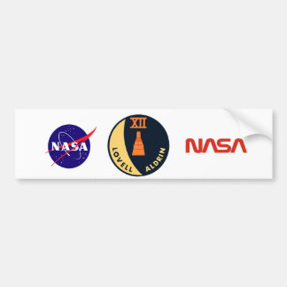 Gemini 12 Lovell and Aldrin Car Bumper Sticker