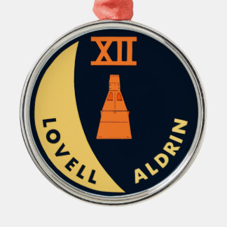 Gemini 12 Lovell and Aldrin Round Metal Christmas Ornament