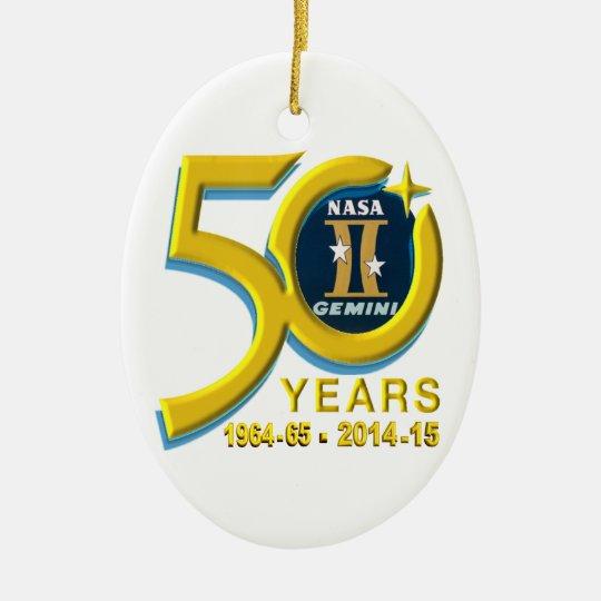 Gemini 50th Anniversary Logo Ceramic Ornament