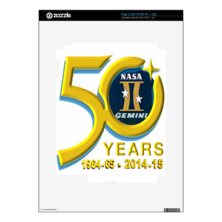 Gemini 50th Anniversary Logo Decals For iPad 2