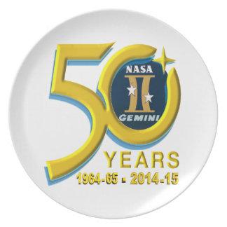Gemini 50th Anniversary Logo Dinner Plate