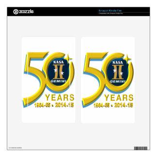 Gemini 50th Anniversary Logo Kindle Fire Skins