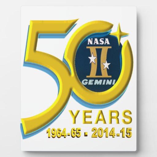 Gemini 50th Anniversary Logo Photo Plaques