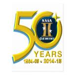 Gemini 50th Anniversary Logo Postcard