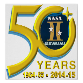 Gemini 50th Anniversary Logo Poster