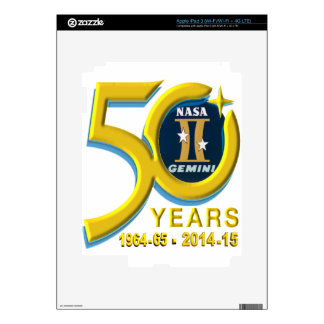 Gemini 50th Anniversary Logo Skins For iPad 3