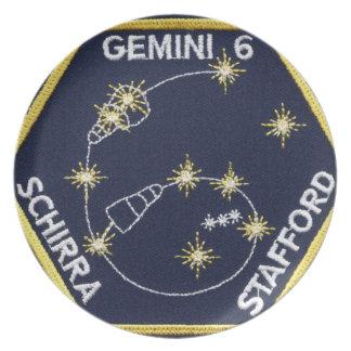 Gemini 6A (officially Gemini VI-A) Dinner Plate