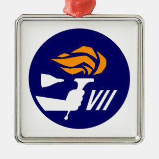 Gemini 7 metal ornament