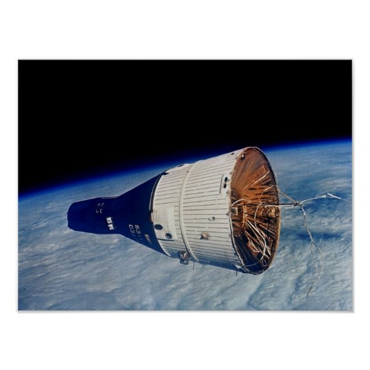 Gemini 7 spacecraft as viewed from Gemini 6A Poster