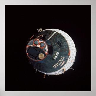 Gemini 7 spacecraft as viewed from Gemini 6A Posters