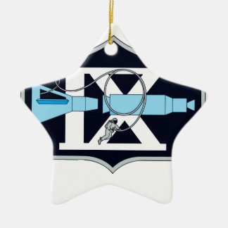Gemini 9 Stafford and Cernan Double-Sided Star Ceramic Christmas Ornament