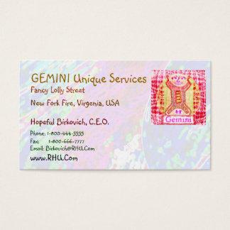 GEMINI + all Zodiac Symbols on back Business Card