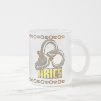 Gemini Aries Zodiac small glass mugs