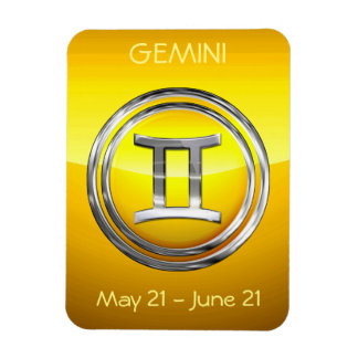 Gemini Astrological Sign Rectangular Photo Magnet
