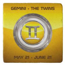 Gemini Astrological Sign Trivet
