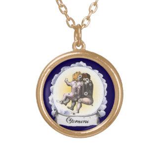Gemini Astrology Zodiac Pendant Necklace