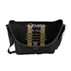 gemini bag messenger bag