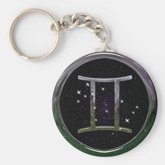 Gemini Basic Round Button Keychain